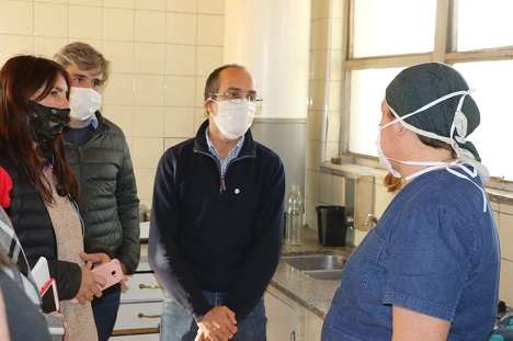 Diario La Noticia - Inf. General - EMERGENCIA SANITARIA - El Intendente recorrió el hospital de Urdampilleta